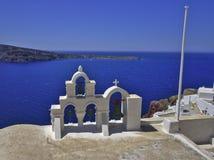 Santorini kyrkliga Klockor Royaltyfri Bild
