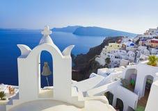 Santorini kyrktar (Oia), Grekland Royaltyfri Fotografi