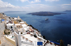 Santorini Landscape. Hige angle view of Santorini Royalty Free Stock Image