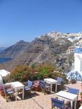 Santorini landscape Stock Photo