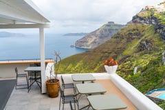 Santorini landscape in Fira, Greece royalty free stock photos