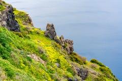 Santorini landscape near Fira, Greece royalty free stock photo