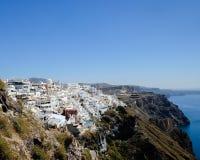 Santorini Landschaft Lizenzfreie Stockfotografie