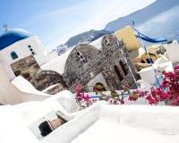 Santorini Landschaft Lizenzfreies Stockfoto