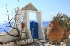 Santorini landskap Royaltyfria Bilder