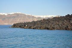 Santorini landskap arkivbild