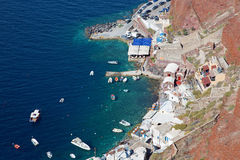 Santorini - le port d'Amoudi Photos stock