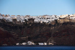 The road of A volcanic island in Santorini Royalty Free Stock Image