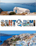 Santorini letterbox ratio 04 Stock Photo