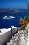 Santorini - Lieferung Stockfotografie