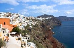 Santorini liggande Arkivbild