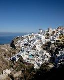 Santorini liggande Arkivbilder