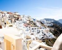 Santorini liggande Royaltyfria Foton