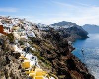 Santorini liggande Fotografering för Bildbyråer