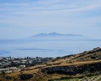Santorini liggande Royaltyfri Fotografi