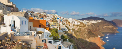 Santorini - The look from Oia to east in evening Royalty Free Stock Image
