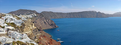 Santorini - The look from Oia to east. Royalty Free Stock Image