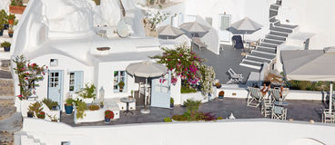 Santorini - look to resort in Oia. Royalty Free Stock Photography