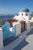 Santorini - The look to typically church cupola in  Imerovigli Royalty Free Stock Photo