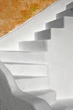 Santorini - look to typically white stairs in Oia. Stock Photography