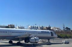 Santorini lotnisko Obrazy Royalty Free