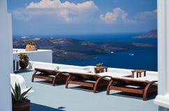 Santorini - lugar bonito para um relaxamento Foto de Stock Royalty Free