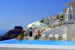 Santorini luxueux photos libres de droits