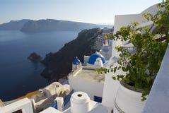 Santorini-Meerblick lizenzfreie stockbilder