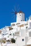 Santorini - moinho de vento em Oia Foto de Stock