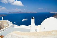 Santorini - mooie plaats voor het ontspannen Stock Afbeeldingen