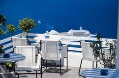 Santorini - mooie plaats voor het ontspannen Stock Foto's