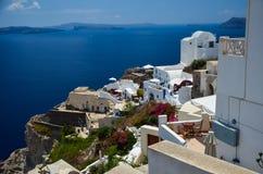 Santorini - mooie plaats voor het ontspannen Stock Fotografie