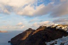 Santorini morgens Stockbilder