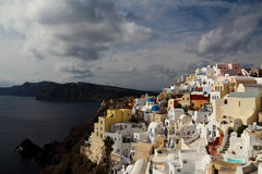 Santorini in the morning Stock Photos