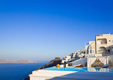 Santorini morning - Greece Stock Photo