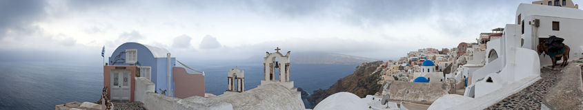 Santorini morning panorama Royalty Free Stock Photography