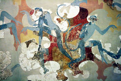 Santorini muzeum Obraz Stock