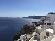 Santorini na mola Fotografia de Stock