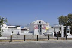 Santorini, 2nd September: Historic Building of the picturesque resorts from Santorini island. Historic white Building of the picturesque resorts from Santorini stock photos
