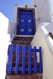 Santorini nieba drzwi Fotografia Stock