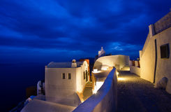 Santorini at night Royalty Free Stock Photography