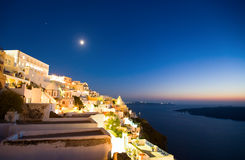 Santorini by night Stock Photography
