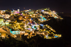 Santorini night - Greece Stock Photos