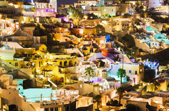 Santorini night - Greece Stock Image