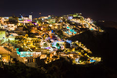 Santorini night - Greece Royalty Free Stock Image