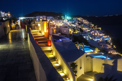 Santorini by night Stock Photos