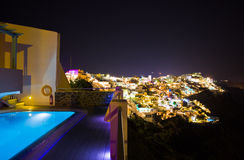 Santorini night - Greece Royalty Free Stock Photo