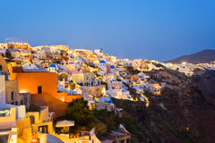 Santorini night (Oia) - Greece Stock Photos