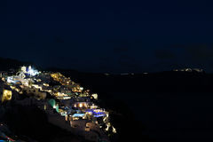 Santorini at night Royalty Free Stock Images