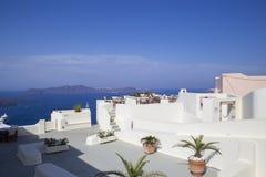 Santorini no mar Mediterrâneo Grécia da manhã Fotos de Stock